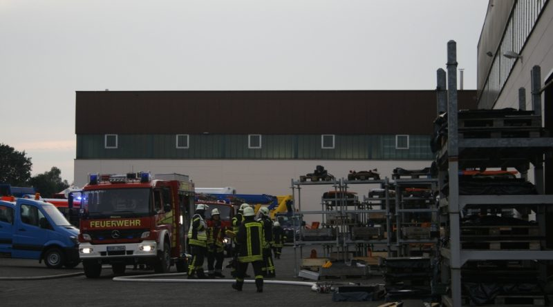 22.09.2016: Alarmübung bei Ruthmann GmbH & Co. KG