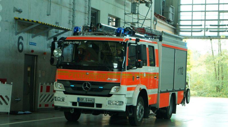 13.03.2017: Feuer in Maschine