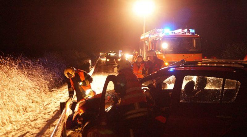 10.12.2017: Schnee und Regen verursacht Unfall auf der A 31