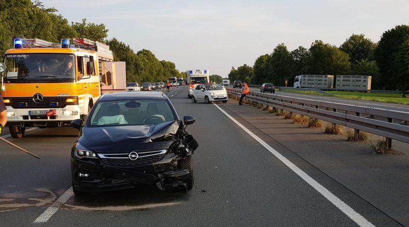 06.07.2018: Unfall auf der A31 mit zwei Fahrzeugen