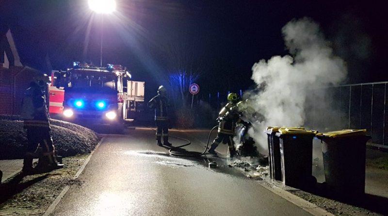 26.02.2019: Mülltonnen brannten