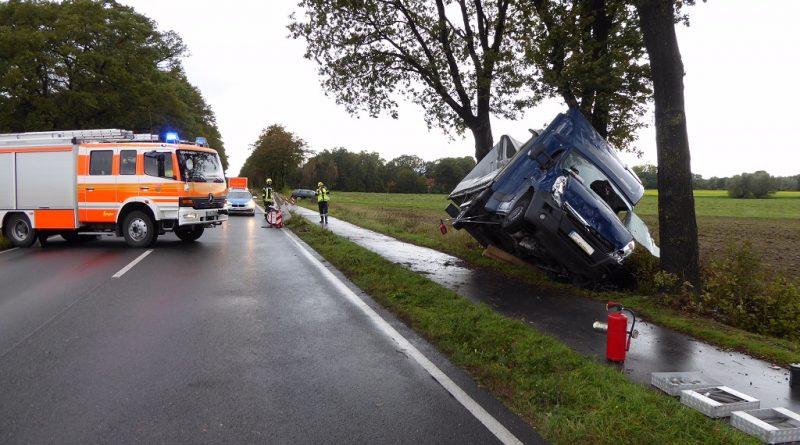 18.10.2019: Windböe verursacht Unfall auf der B525