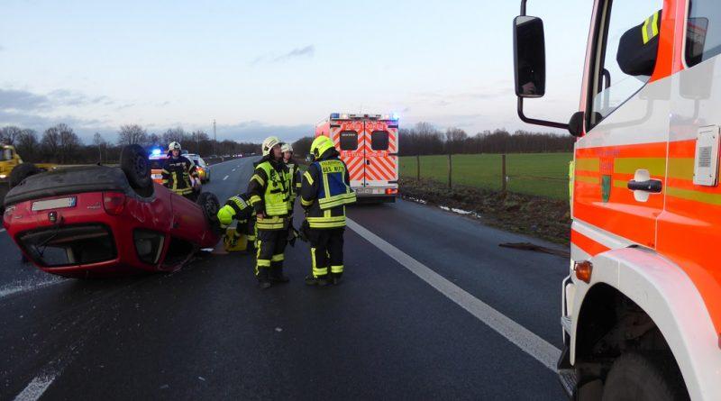 17.02.2020: Verkehrsunfall A31 Absichern RTW