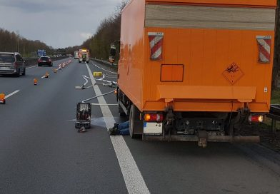 13.04.2021: Unfall zwischen PKW und LKW auf der A31